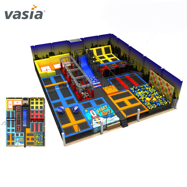 Customized Sweet Candy Indoor Playground Dream Playhouse with Ball Pool And Ninja Course for Kids Children Trampoline Park