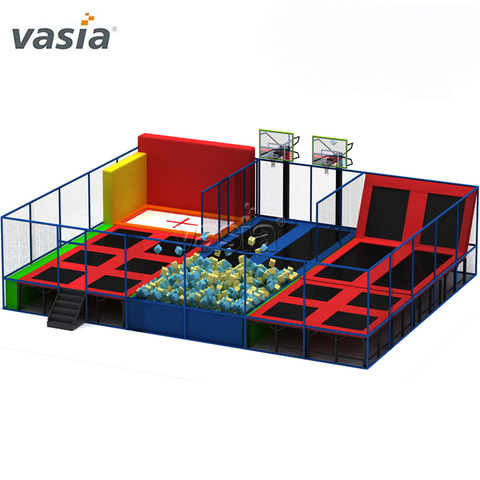 New Design Eco-friendly Cheap Funny Jumping Elastic Bed Commercial Indoor Trampoline Park