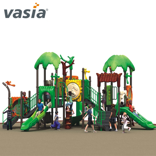 Popular Commercial kids outdoor playset with Double Slide