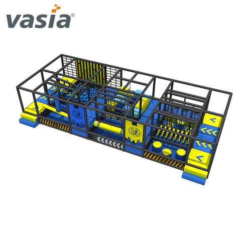 Customized Obstacle Course Shopping Mall Ninja Course Soft Indoor Playground for Ninja School