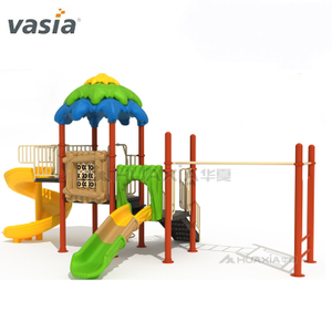 Commercial Outdoor Happy Children Swing And Slide Playground Equipment