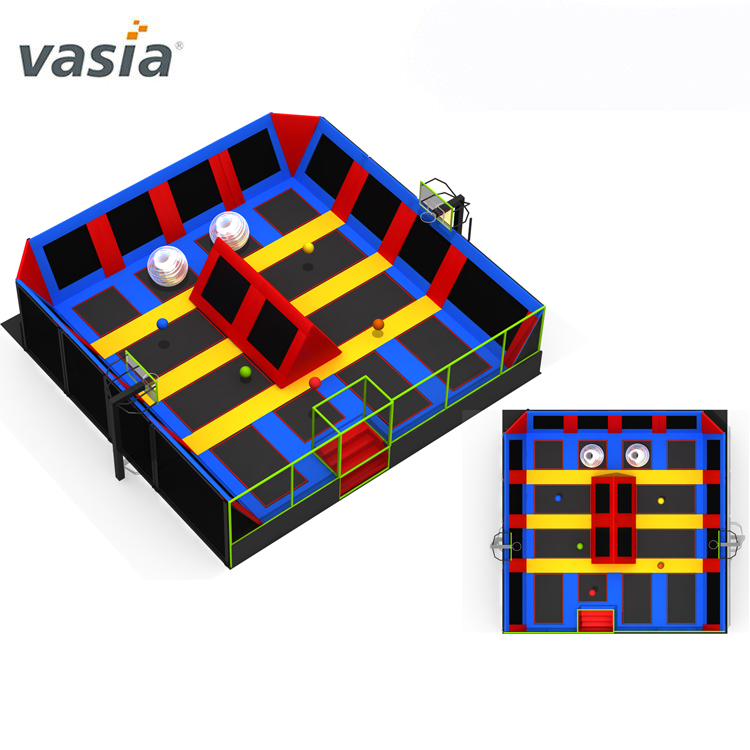 Hot Sale Rectangle Commercial Jumping Trampoline for Park