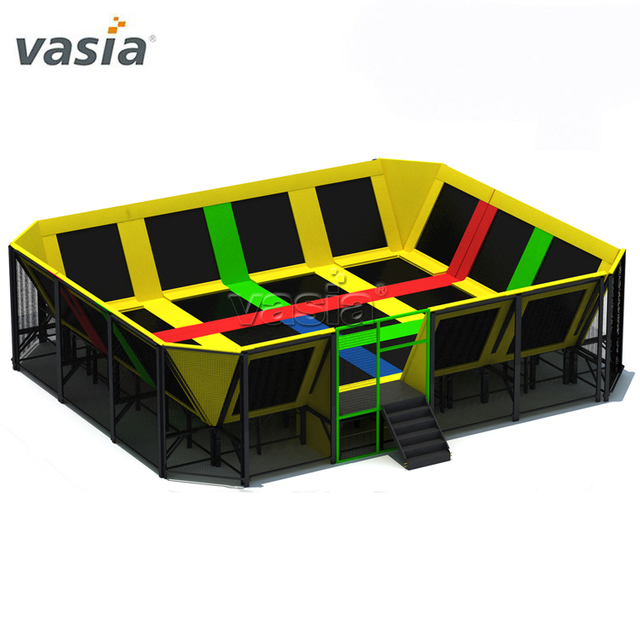 New Design Trampoline Park Equipment with Foam Pit Climbing Wall