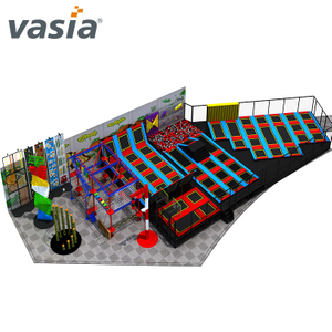 Commercial Indoor Large Cheap Indoor Trampoline Park with Foam Pit for Sale