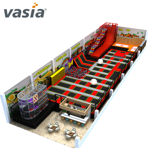 Wonderful Indoor Amusement Trampoline Park with Slide
