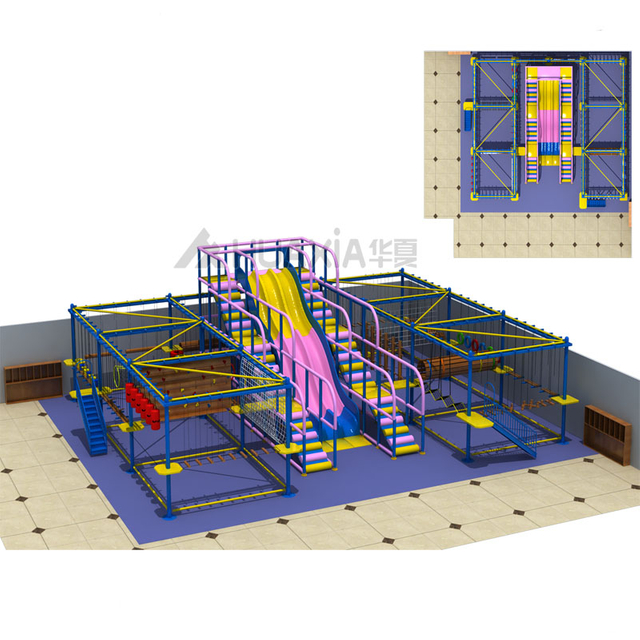 Vasia Indoor Kids Obstacle Course Climbing Rope Course