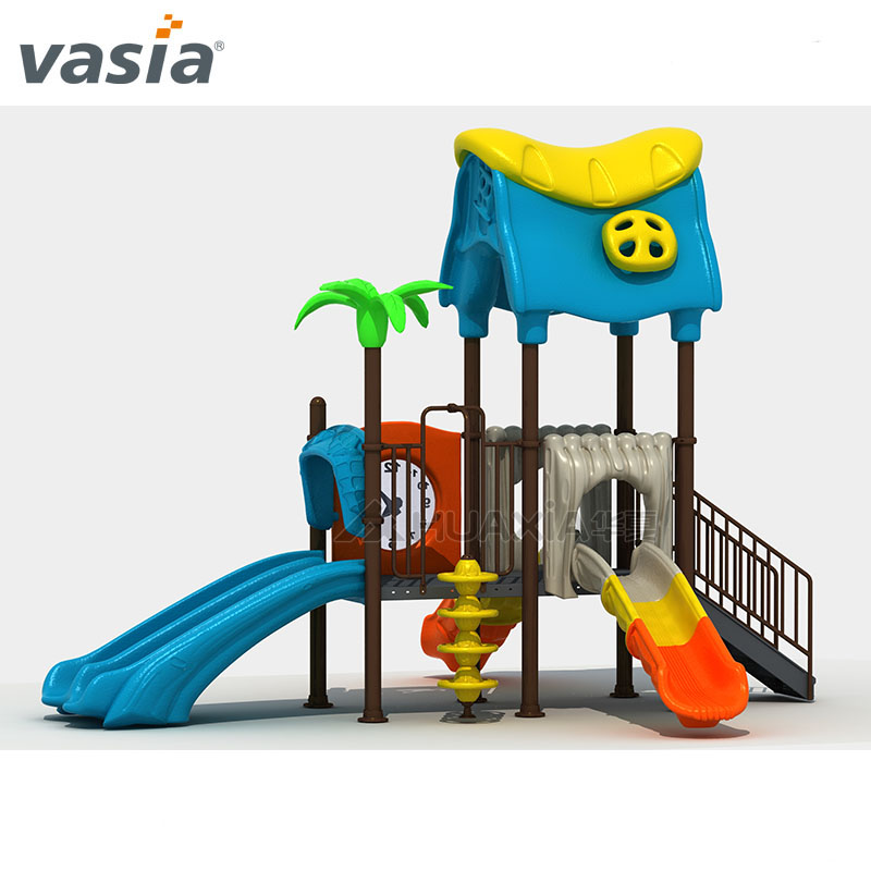 Cheap Rated Kids Small Outdoor Slide for Backyard with Swing Set