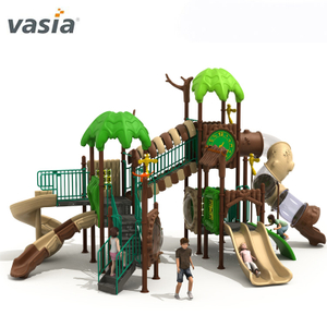 Natural Theme Park Spiral Slide for Kids Outdoor Playground Equipment