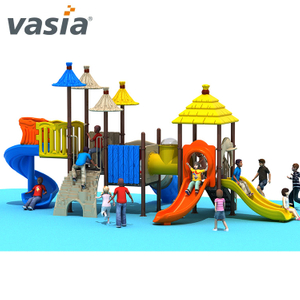 Popular Safe Children Playland Plastic Slide Outdoor Playground