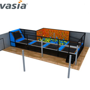 Hot Sale Trampoline with Foam Pool, Trampoline Park, Indoor Gymnastic Trampoline
