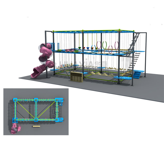 Kindergarten Quality-assured Indoor Playground Rope Course