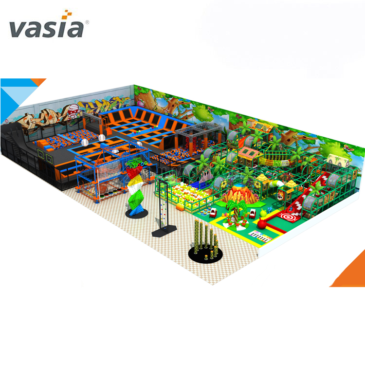 Wholesale Amusement Jumping Trampoline Park Playground, Children Interactive Trampoline