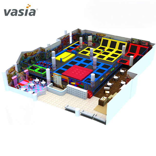 Indoor Playground Equipment Jumping And Running Trampoline Park with Many Functions
