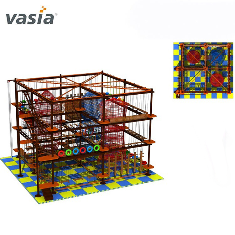 Commercial Indoor Entertainment Rope Course Equipment