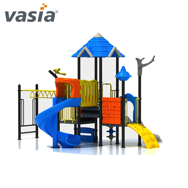 2020 Best outdoor plastic playset with slide