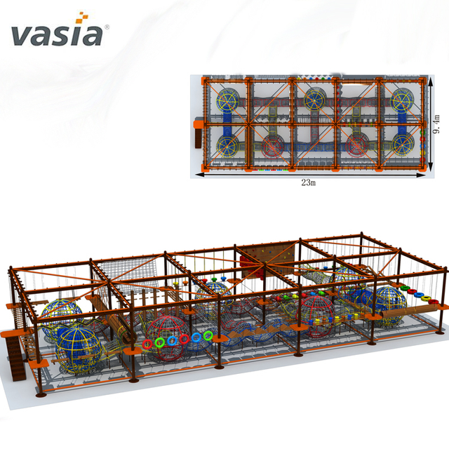 Wonderful Children Adventure Climbing Equipment Obstacle Rope Course