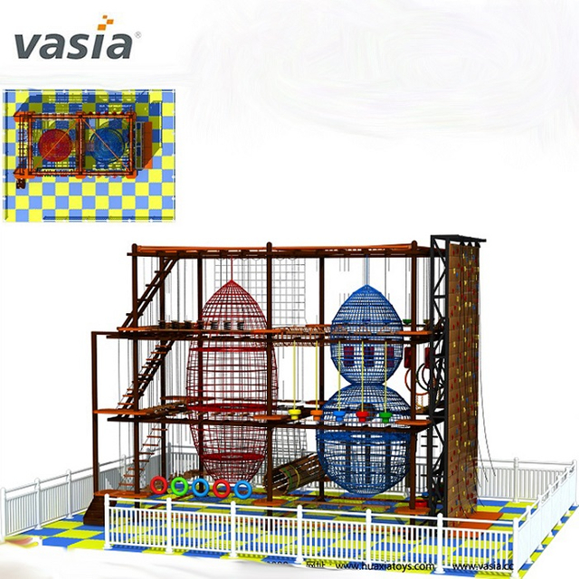 Commercial Multi Kids Climbing Game Obstacle Rope Course Maze
